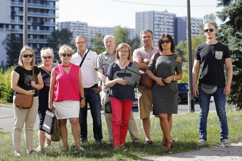 Katowice. Protest mieszkańców osiedla Tysiąclecia przeciwko budowie kolejnych wieżowców