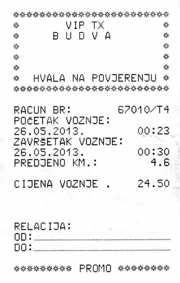 Kopija računa koji je dobio Pasi Latva
