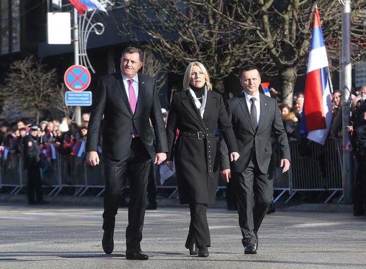 Milorad Dodik. Željka Cvijanović i Dragan Lukač