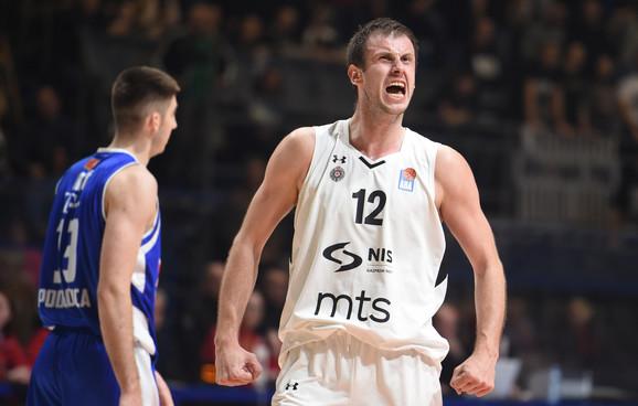 Kapiten KK Partizan Novica Veličković na meču sa Budućnošću