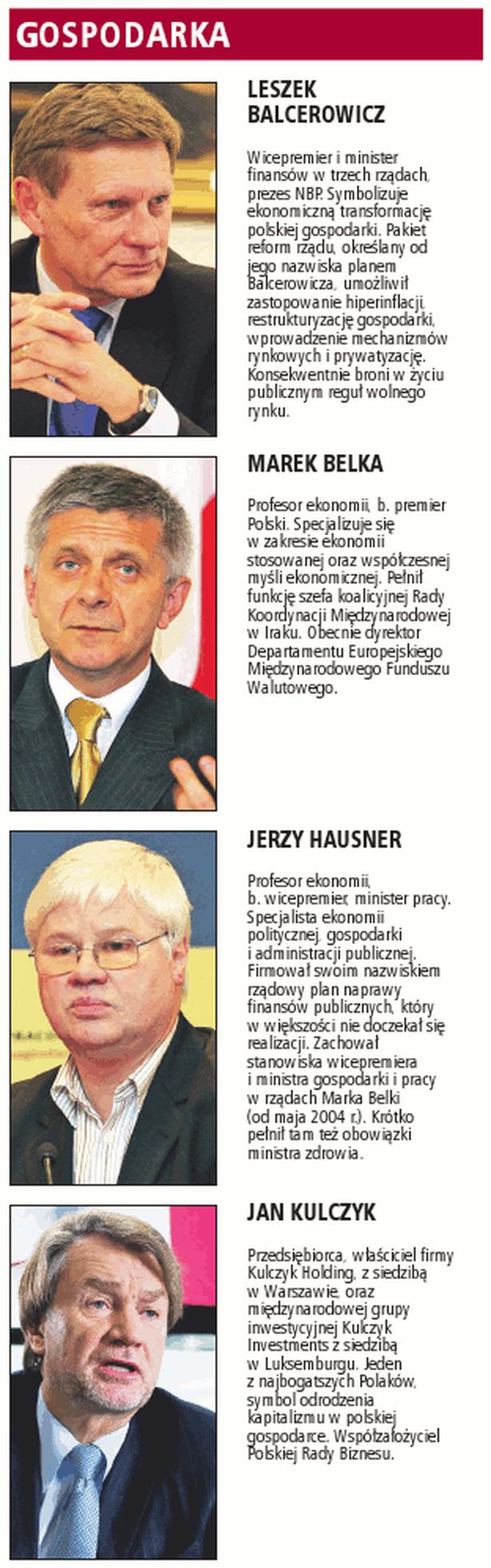 Plebiscyt Gazety Prawnej na najważniejsze postaci 20-lecia - gospodarka