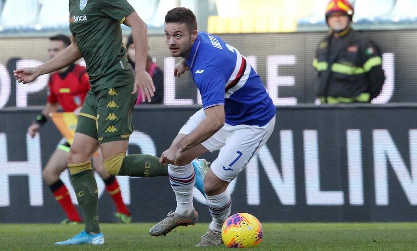 Gol Karola Linettego w meczu z Lazio