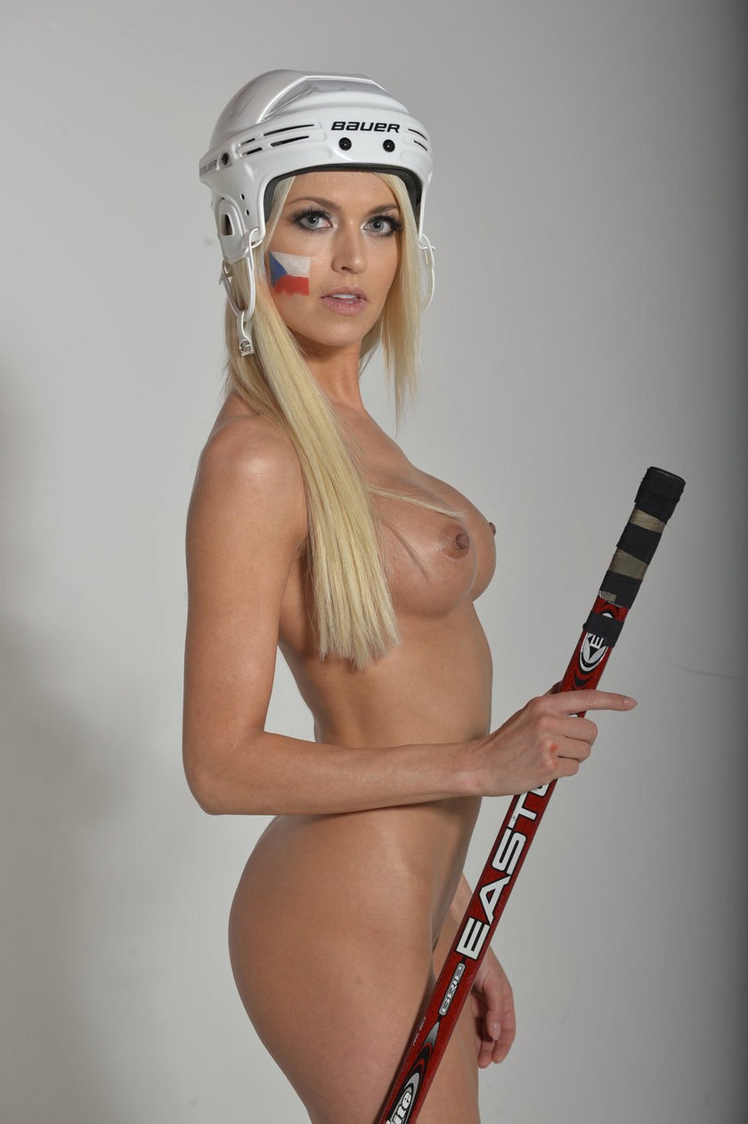 Modelka rozebrała się dla czeskich hokeistów!