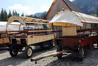 Testy hybrydowego wozu konnego w Tatrach. Ma wozić turystów do Morskiego Oka