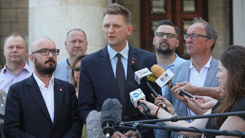 Andrzej Rozenek i politycy SLD