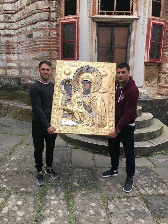 Vladan Milojević u poseti manastiru Hilandar