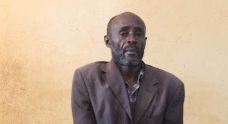 Backstone Agaro during his court hearing at a Mandera court (Nation)