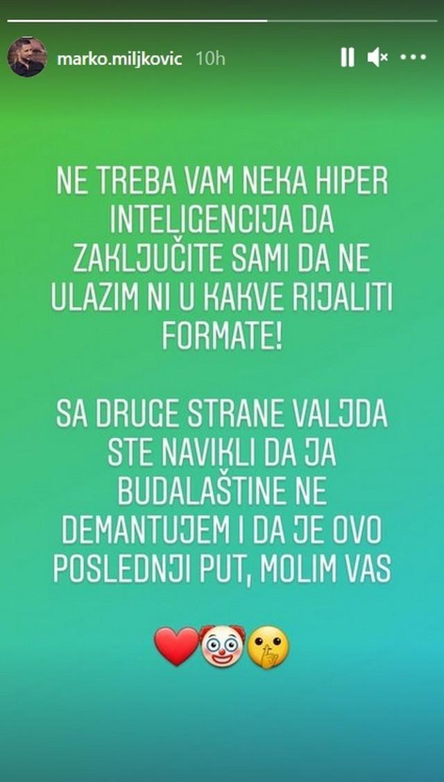 Marko Miljković - objava