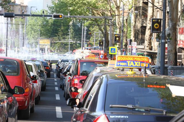 Protest taksista letos na Slaviji