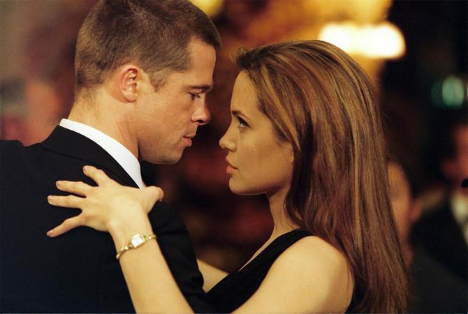 """Anđelina Žoli i Bred Pit u filmu """"Gospodin i gospođa Smit"""" na čijem snimanju su se sreli 2005. godine"""