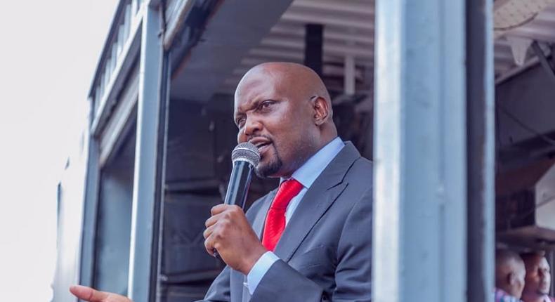 Gatundu South MP Moses Kuria during a past public address (Twitter)
