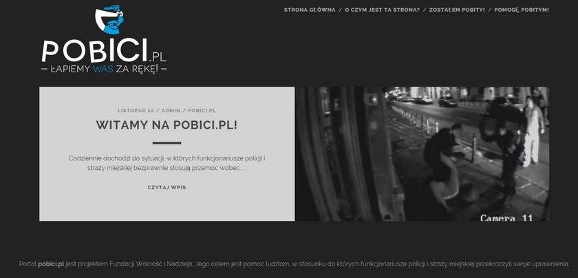 Strona pobici.pl ma pomagać ofiarom przemocy policji.