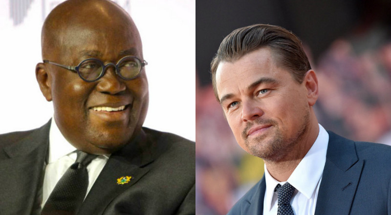 """Titanic"" actor Leonardo DiCaprio 'warns' Akufo Addo to protect Atewa Forest"