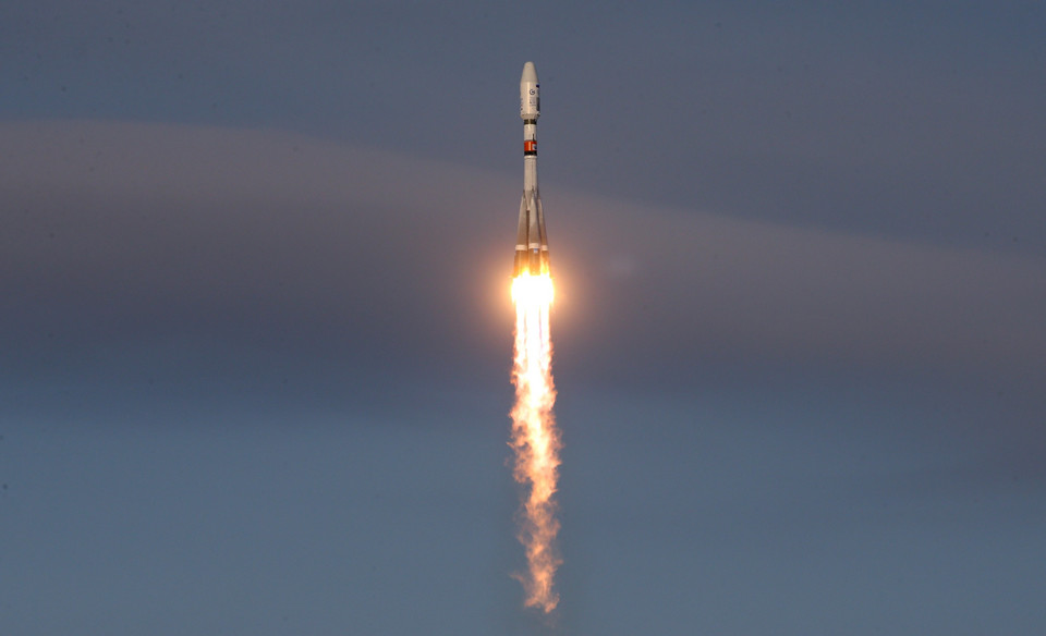 RUSSIA SPACE SOYUZ ROCKET LAUNCH (Russia launches satellites into space from new Vostochny cosmodome)