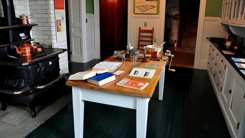 Lenox, Massachusetts - September 16, 2014: The basement kitchen at Edith Wharton's Summer home, The Moun