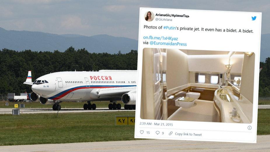 Samolot Władimira Putina