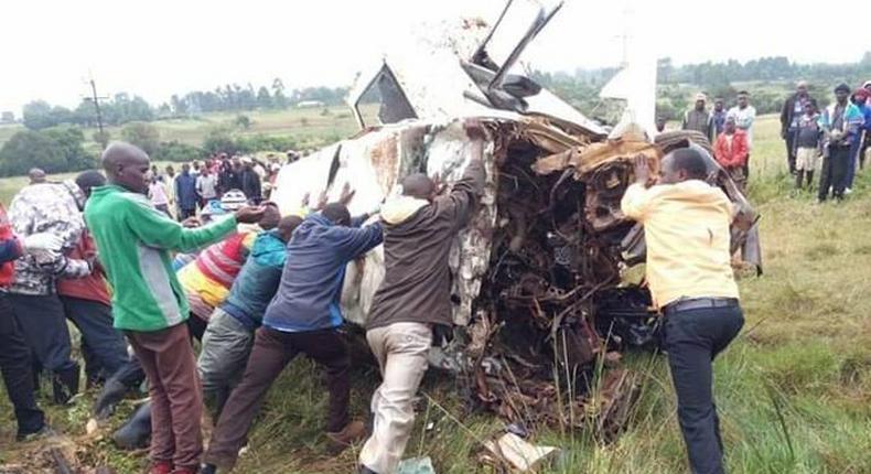 Fatal accident at Kipsombe bridge