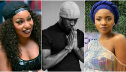 Rita Dominic (left), Peter Okoye (middle), and Simi are three of the 35 celebs that dedicated time to campaign for Mercy, Tacha and Mike at the recently concluded BBNaija 2019 Pepper Dem. [Instagram]