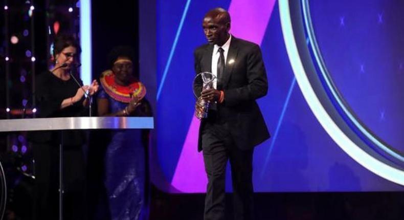 Eliud Kipchoge wins International Achievement award