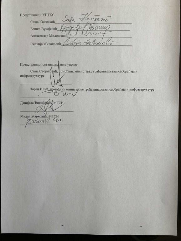 Ko je učestvovao u pregovorima u Vladi Srbije