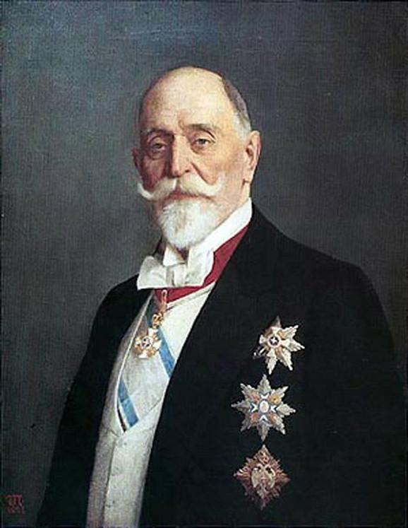 Portret Đorđa Vajferta, ulje na platnu slikara Uroša Predića, nalazi se u zgradi Narodne banke Srbije