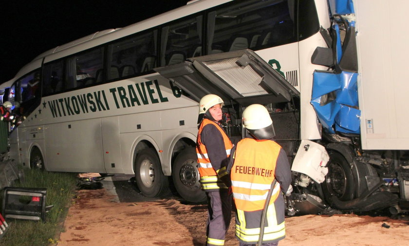 Wypadek autokaru w Niemczech