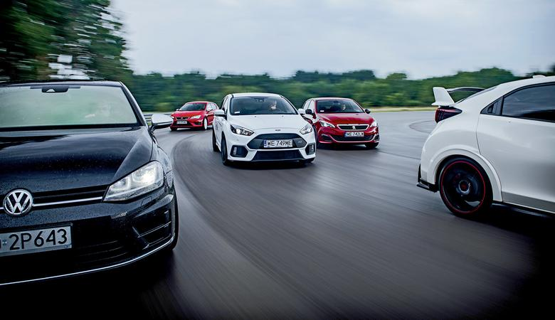 Focus RS vs 308 GTi vs Leon Cupra 290 vs Golf R vs Civic Type R