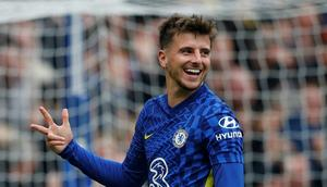 Three and easy: Mason Mount scored a hat-trick in Chelsea's 7-0 thrashing of Norwich Creator: Adrian DENNIS