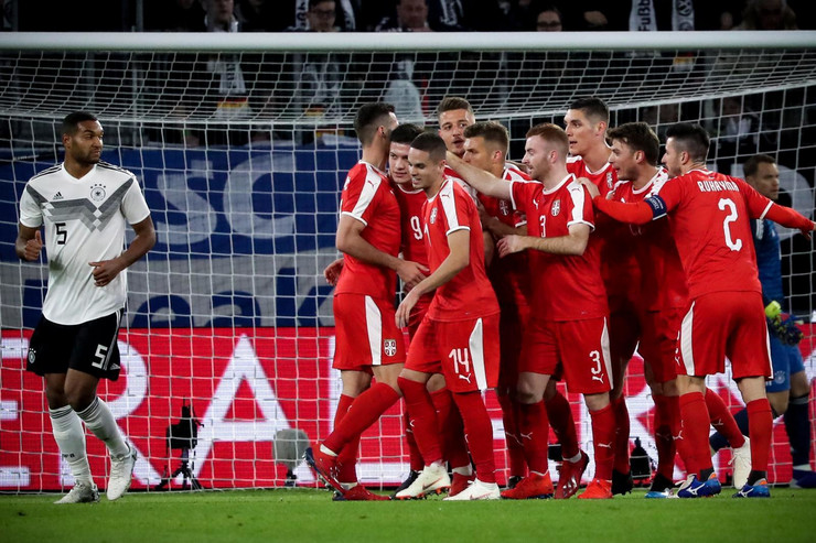 Fudbalska reprezentacija Srbije, Fudbalska reprezentacija Nemačke