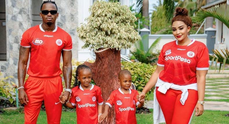 Zari Hassan with Diamond and their Kids Tiffah and Nillan