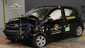 Hyundai i10 i Mercedes Klasy C w teście Euro NCAP