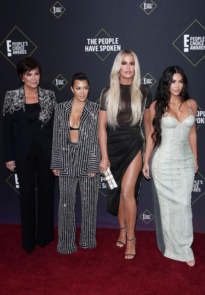 People's Choice Awards 2019: Kris Jenner, Kourtney Kardashian, Khloe Kardashian i Kim Kardashian