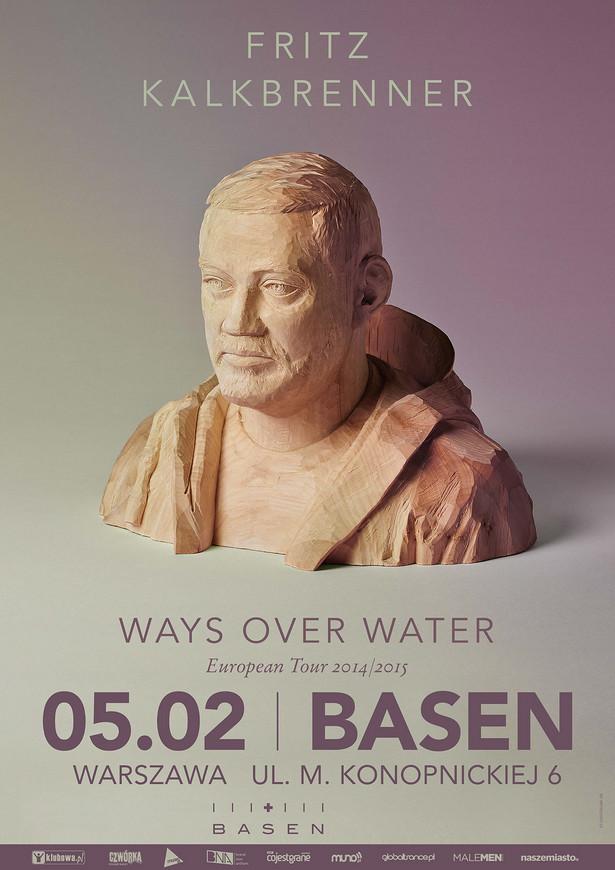Fritz Kalkbrenner - plakat promujący warszawski koncert