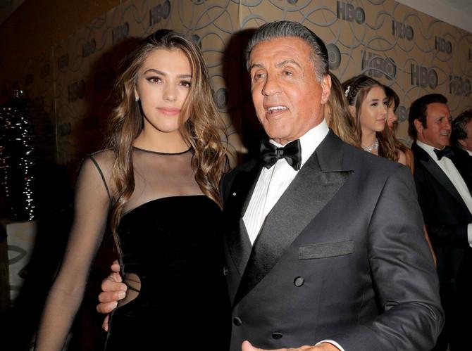 Silvester Stalone sa ćerkom Sistin