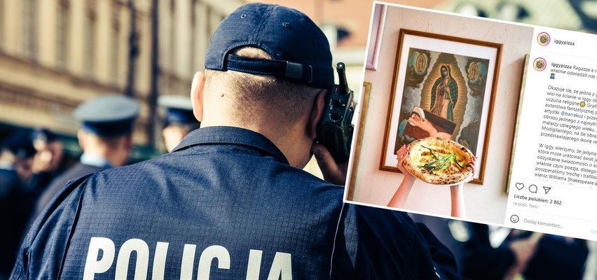 Policja wkroczyła do pizzerii przez obrazek z Maryją. Klienci oburzeni!
