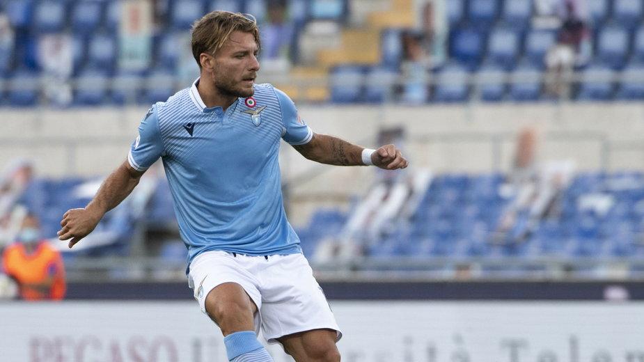 Ciro Immobile w meczu z Brescia Calcio