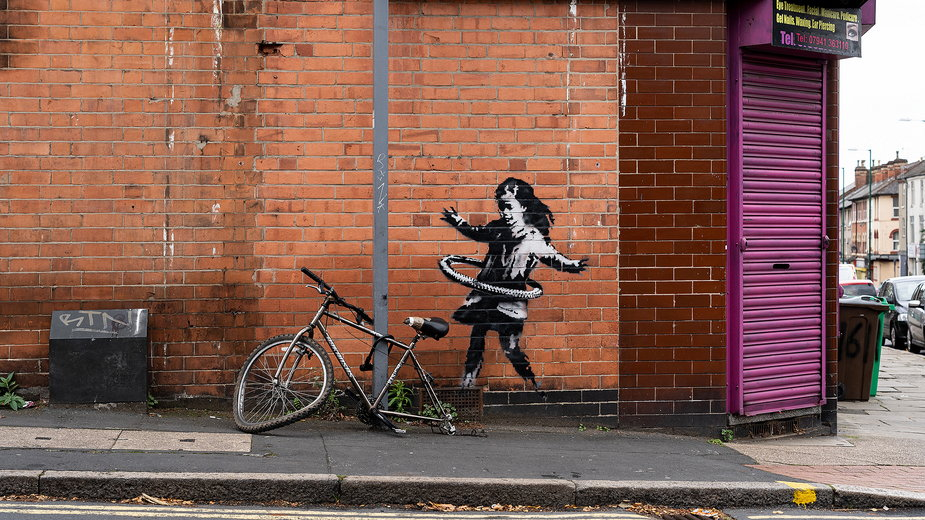 Nowy mural Banksy'ego w Nottingham