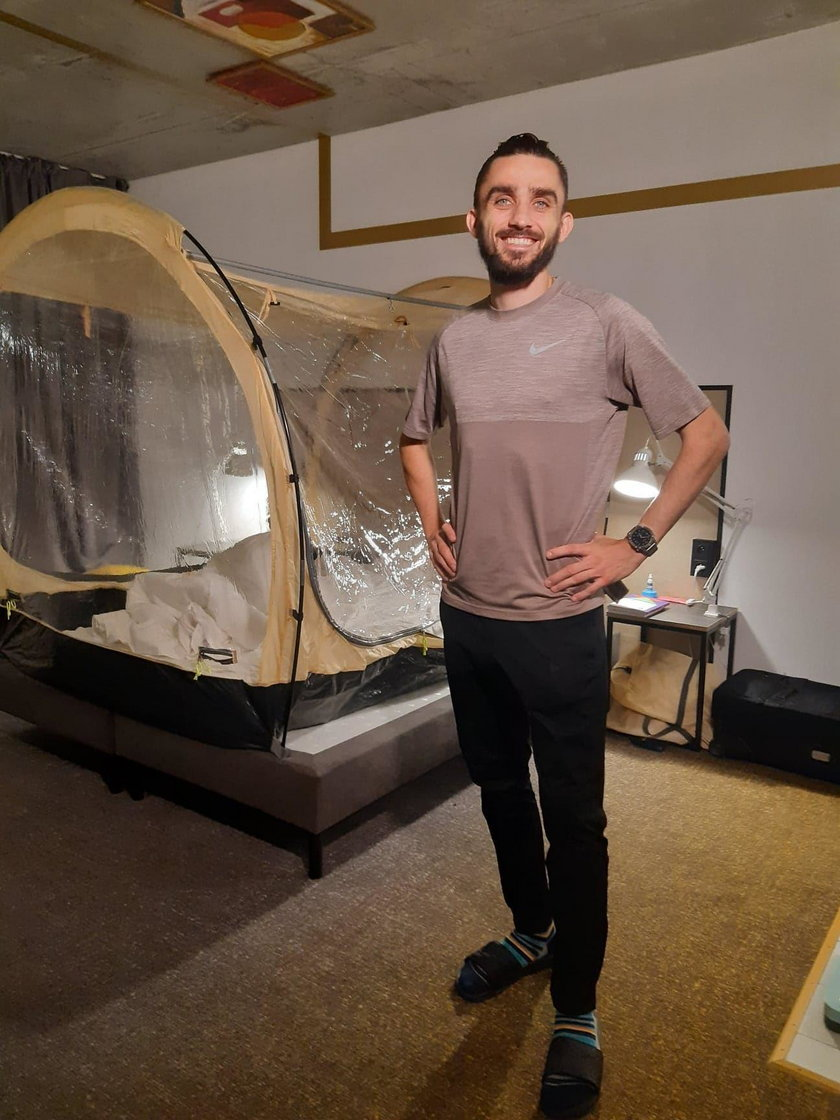 Adam Kszczot i jego namiot hipoksyjny