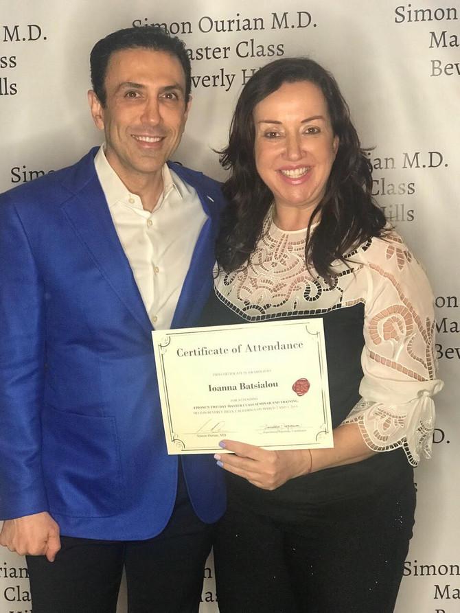 Jana Batsioulau je bila jedina lekarka iz regiona koja je prisustovala Master class-u doktora Simona Ouriana