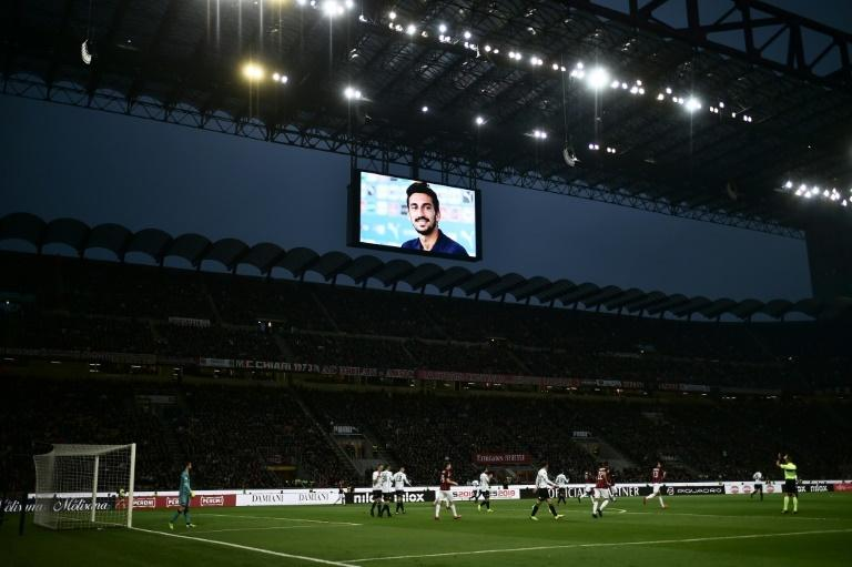 Fans across Italy honoured deceased former Fiorentina captain Davide Astori, who died in his sleep on March 4 2018 ahead of a match at Udinese