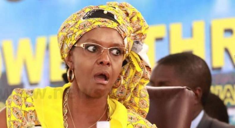Grace Mugabe, the wife of former Zimbabwean ruler Robert Mugabe