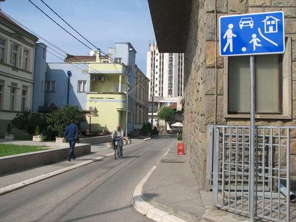 Razlog za slavlje:Saobraćajna tabla u Kruševcu