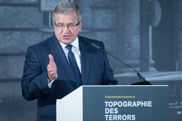 Bronisław Komorowski EPA/WOLFGANG KUMM