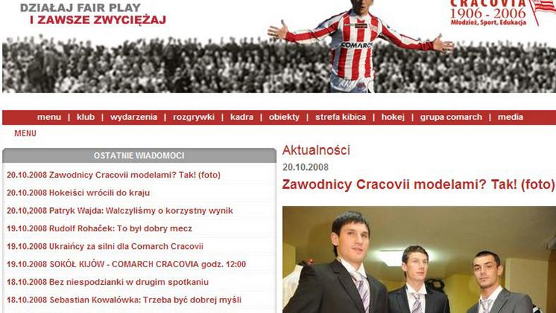 Piłkarze Cracovii zadebiutowali na wybiegu