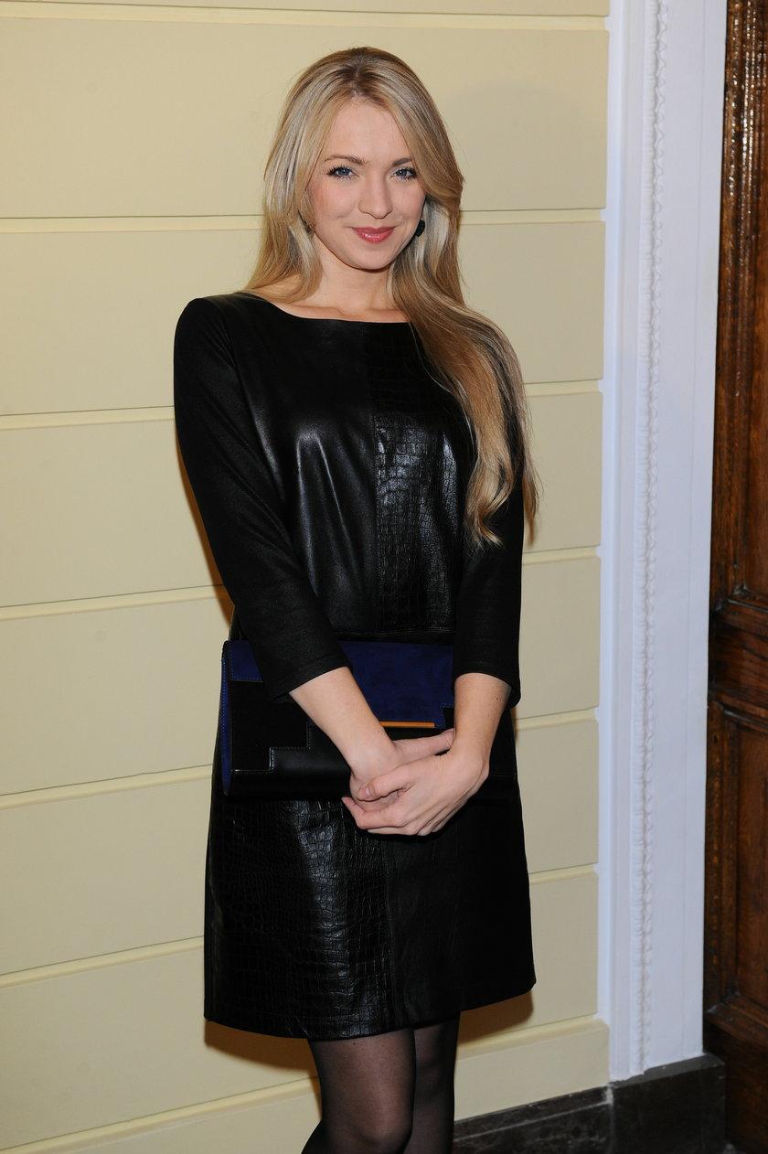 Barbara Kurdej-Szatan w czarnej sukience