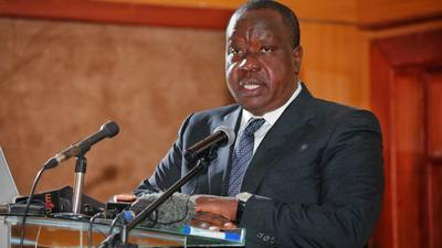 Re-building of destroyed homes in Laikipia begins as CS Matiang'i distributes food