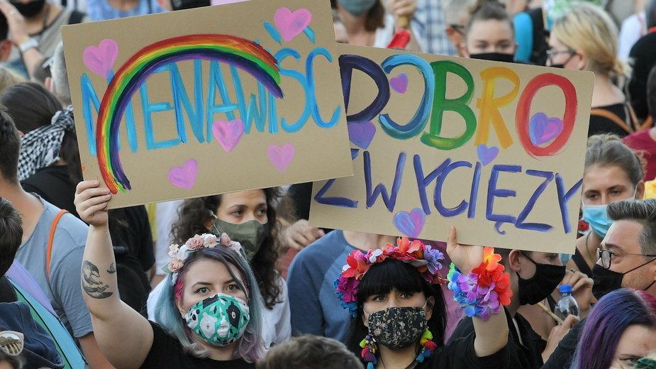 Protest poparcia dla społeczności LGBT