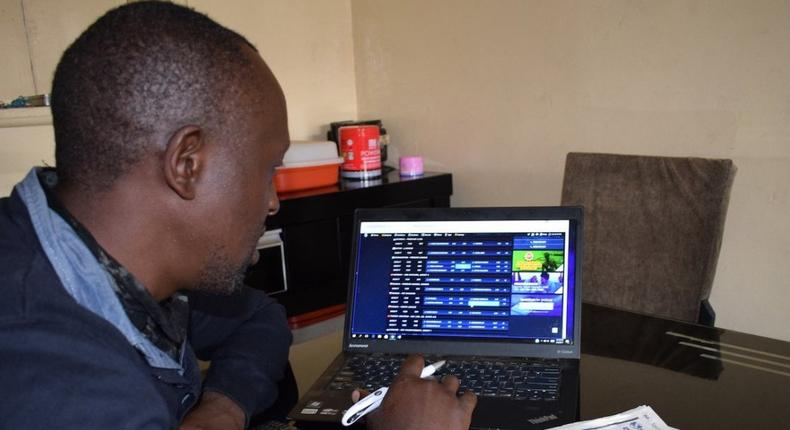 One of millions of young Kenyans who places regular bets online.(EqualTimes/Nathan Mabeya)