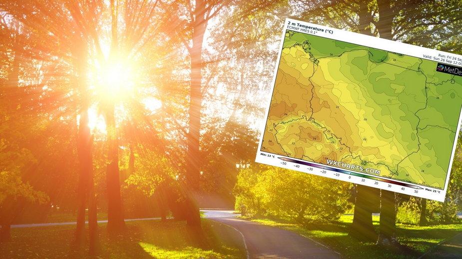 Prognoza pogody: Chwilowy powrót lata. Nadciąga gorące powietrze z południa