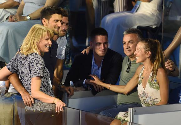 Đokovići na finalu Adria tour turnira u Beogradu između Filipa Krajinovića i Dominika Tima
